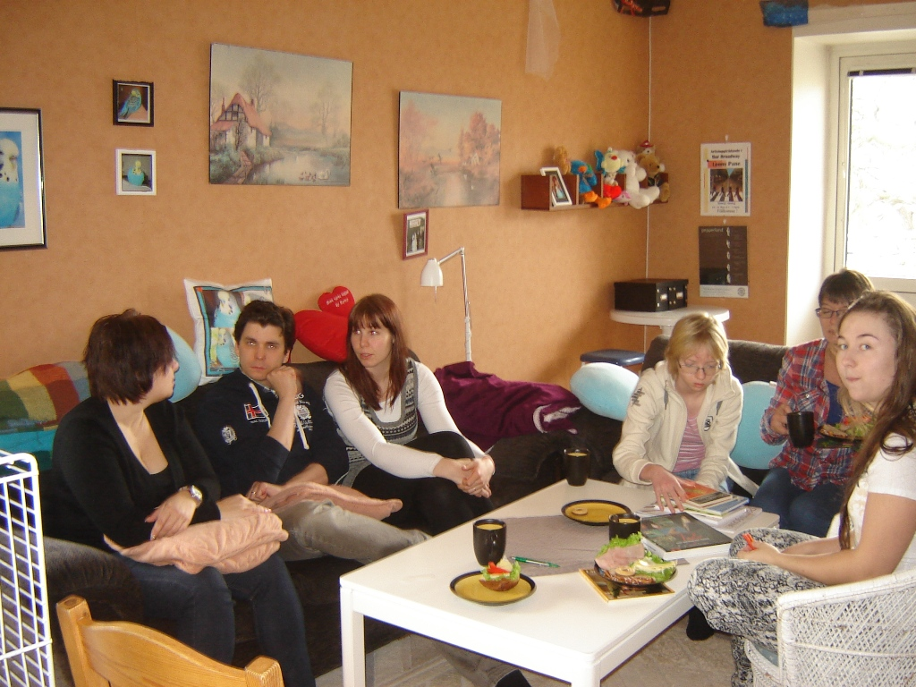 Gruppen samlad - Lisbeth vid kameran
